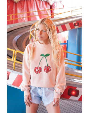 Cherry Sweater Dusty Pink
