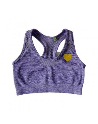 The Heart Sports Bra Purple