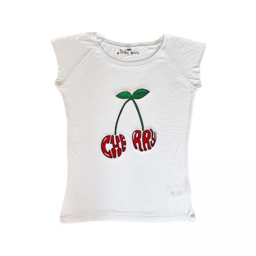 Cherry T-Shirt White WOMEN
