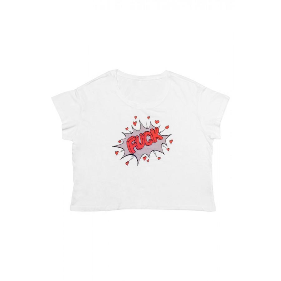 Fuck Retro T-Shirt White WOMEN