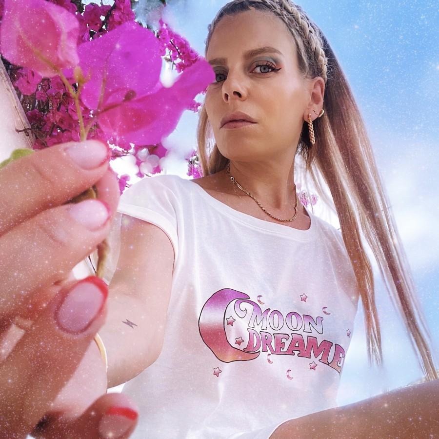Moon Dreamers T-Shirt Dress White WOMEN
