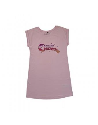Moon Dreamers T-Shirt Dress Pink