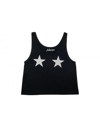 Silver Star Tank Black
