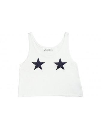 Black Star Tank White